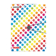Obal s tromi chlopňami Smiley World Rainbow A4  PP